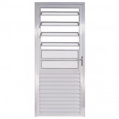 Porta de Alumínio Branco Basculante 2,10x0,80m Direita Esquadriart