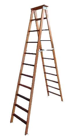 Escada Madeira Pintor 12 Degraus 120kg Elite