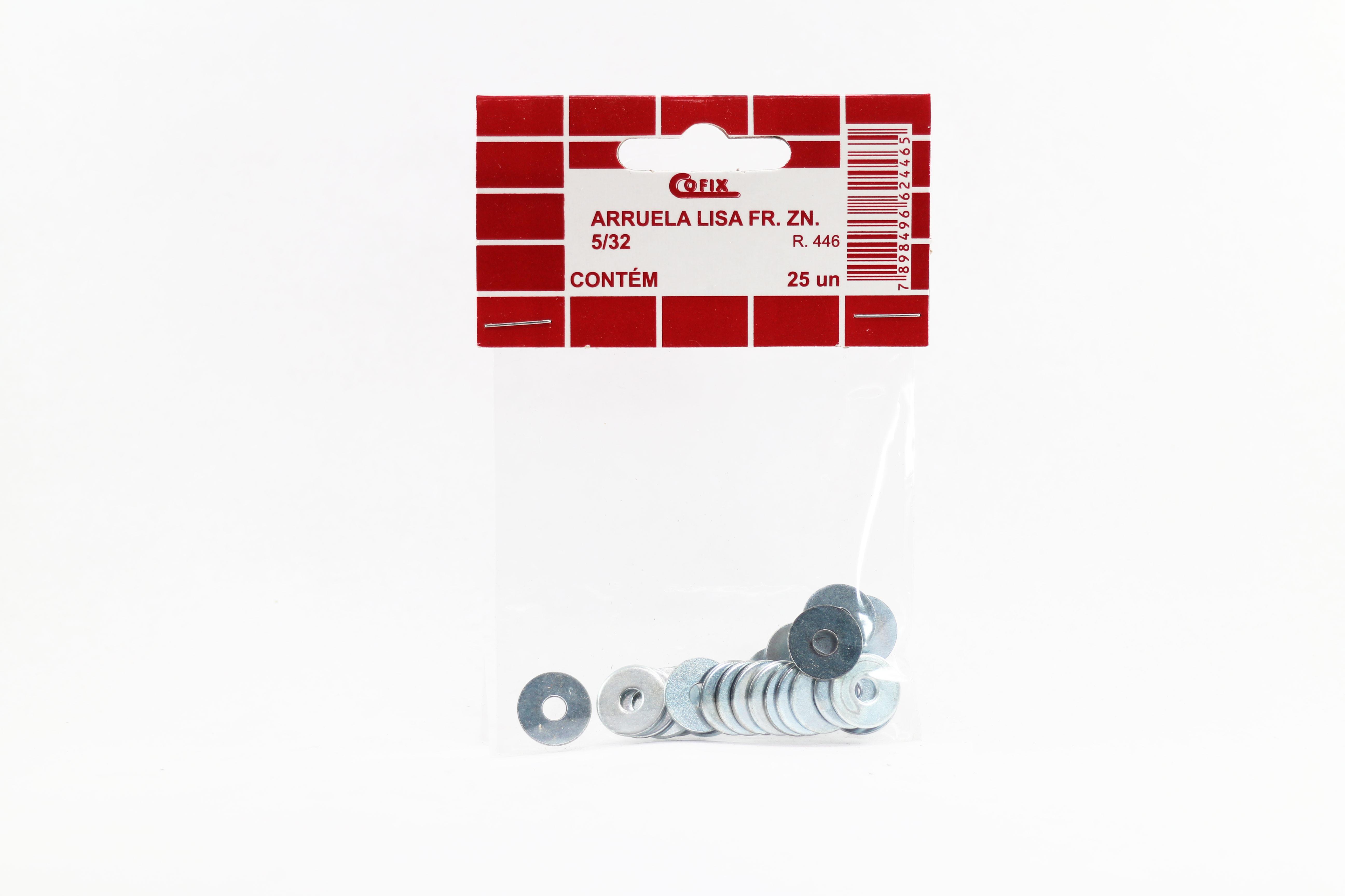 """Cartela de Arruela Lisa 5/32"""" 25un Cofix"""