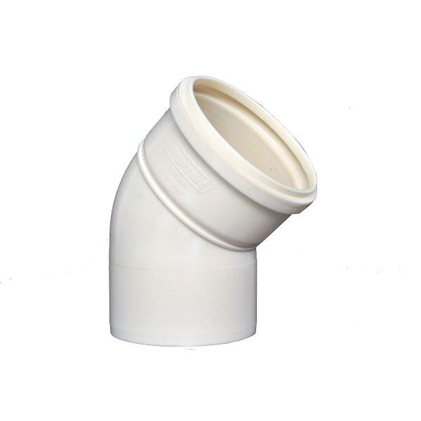 Joelho Esgoto 150mm 45° Branco MULTILIT