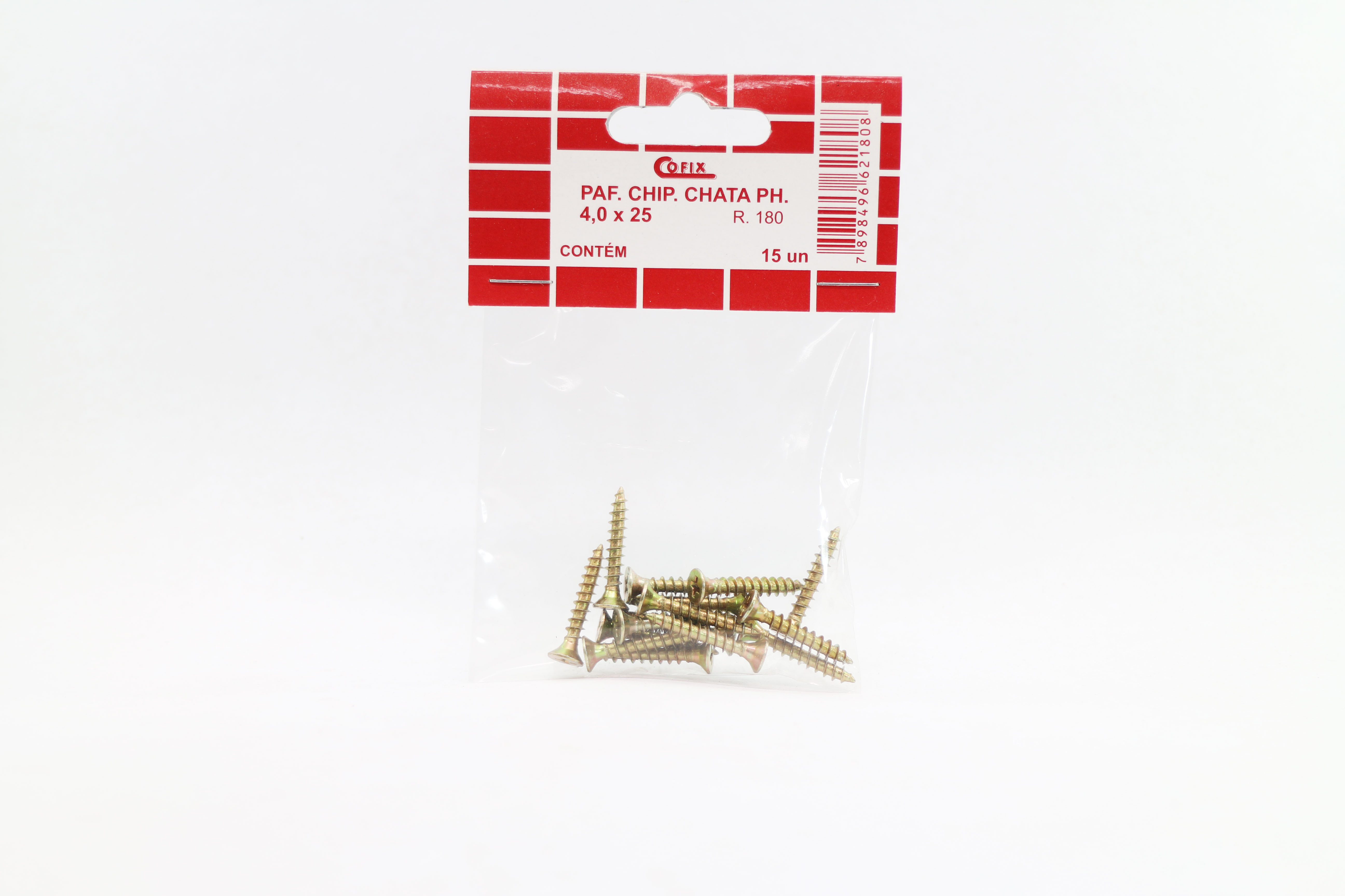 Cartela de Parafuso Chip 4,0x25 15un Cofix