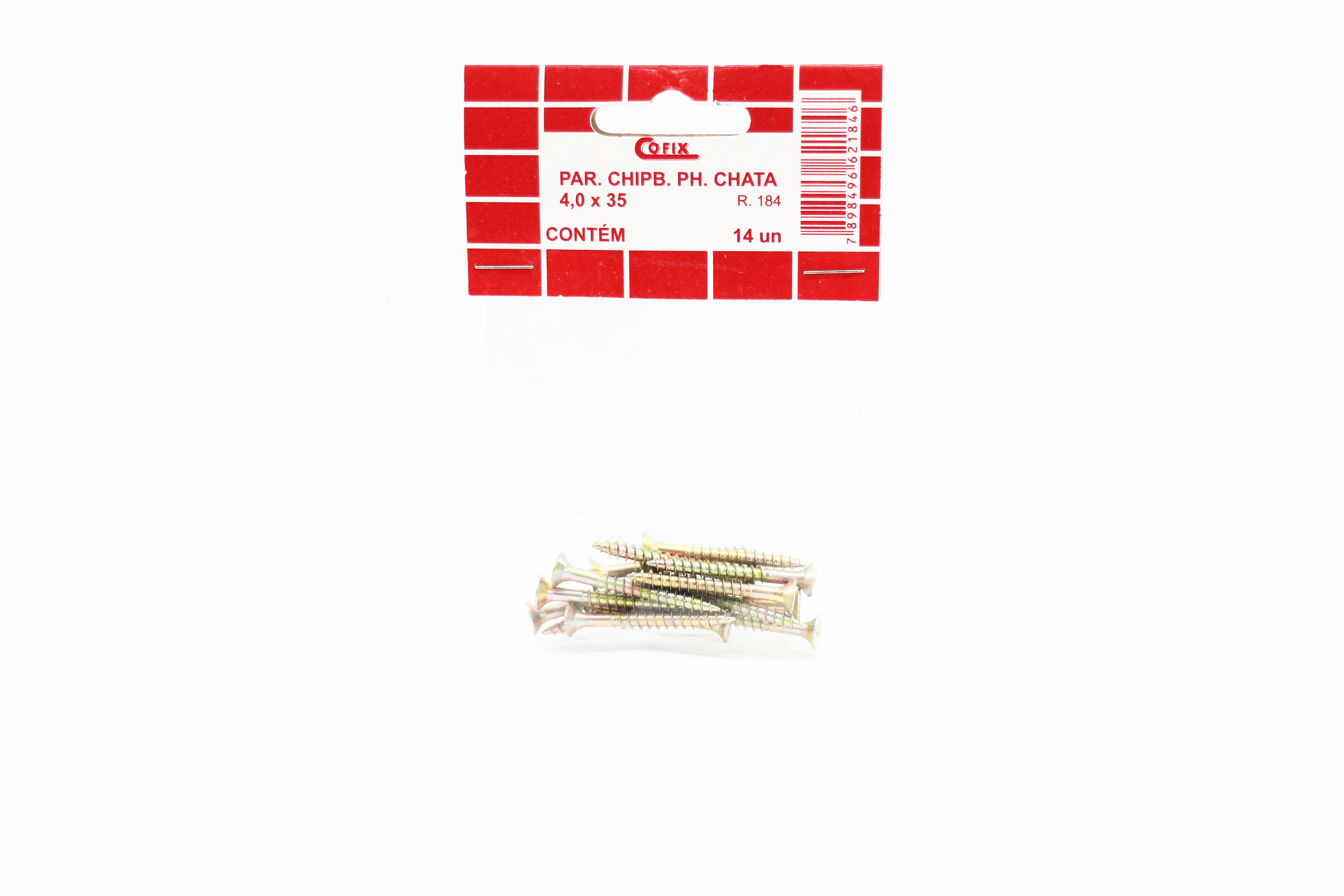 Cartela de Parafuso Chip 4,0x35 14un Cofix