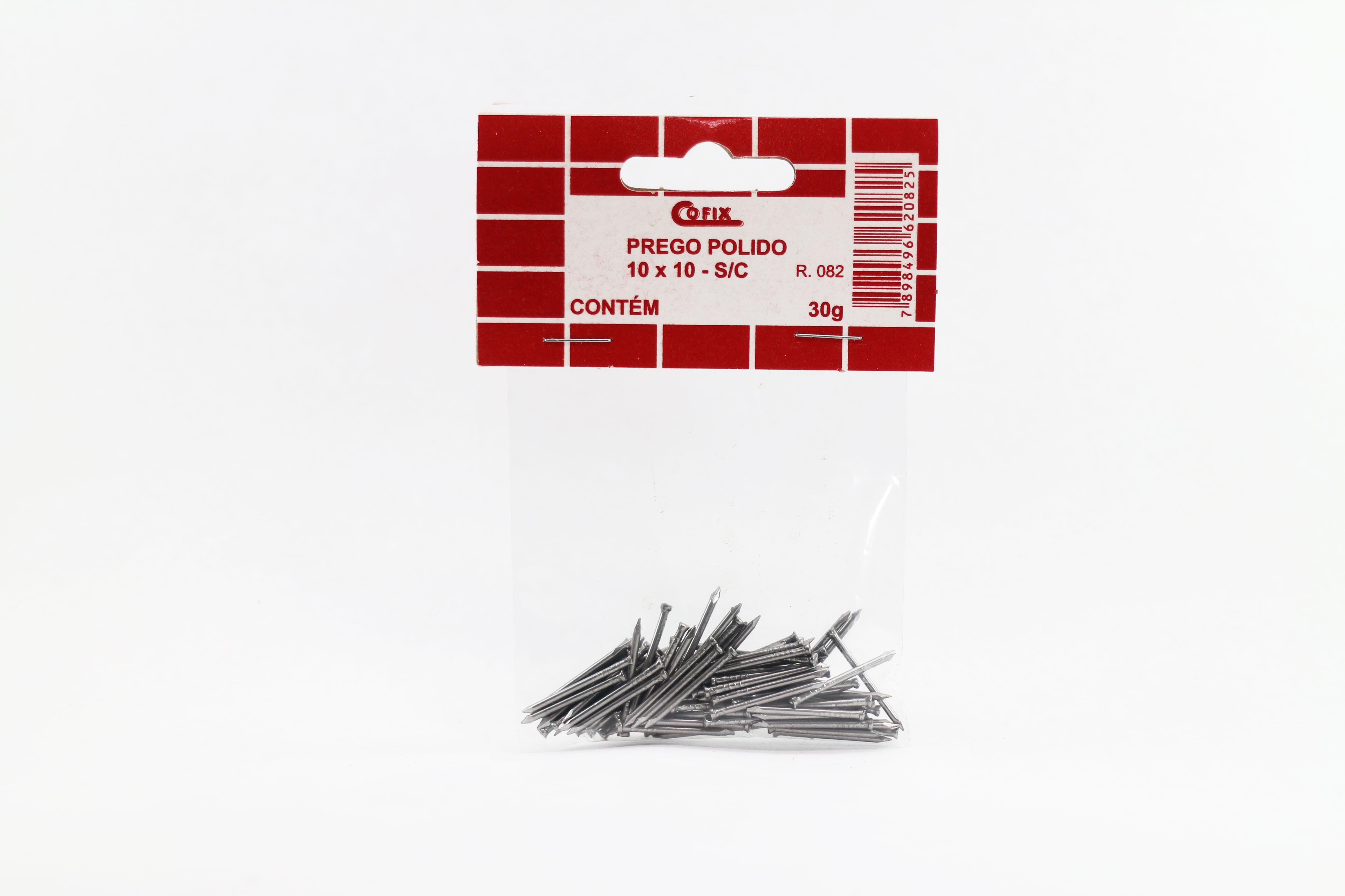 Cartela de Prego Polido sem Cabeça 10x10 30g Cofix