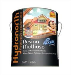 Resina Acrílica Acqua Multiuso 3,6 L Cerâmica Telha Hydronorth