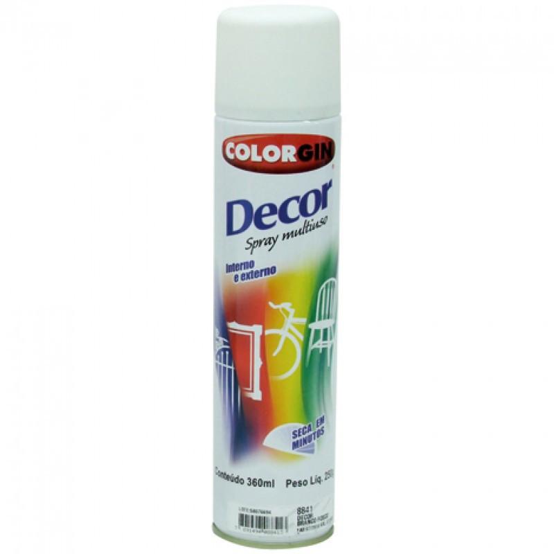 Tinta Spray Decor 350ml Branco Fosco Colorgin