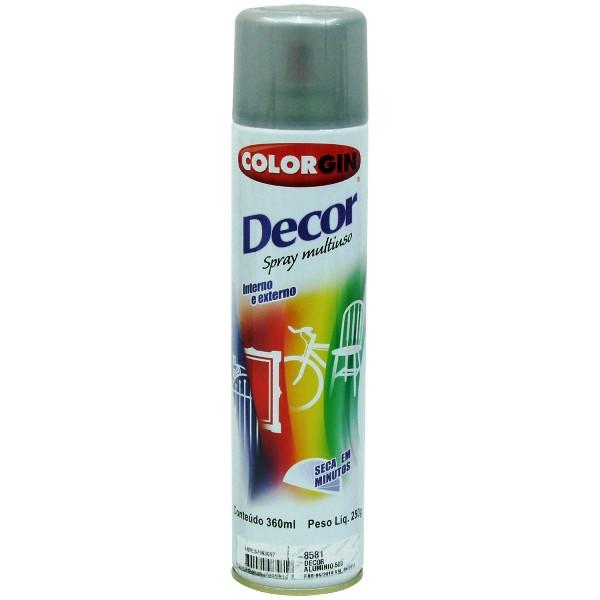Tinta Spray Decor 350ml Alumínio Colorgin