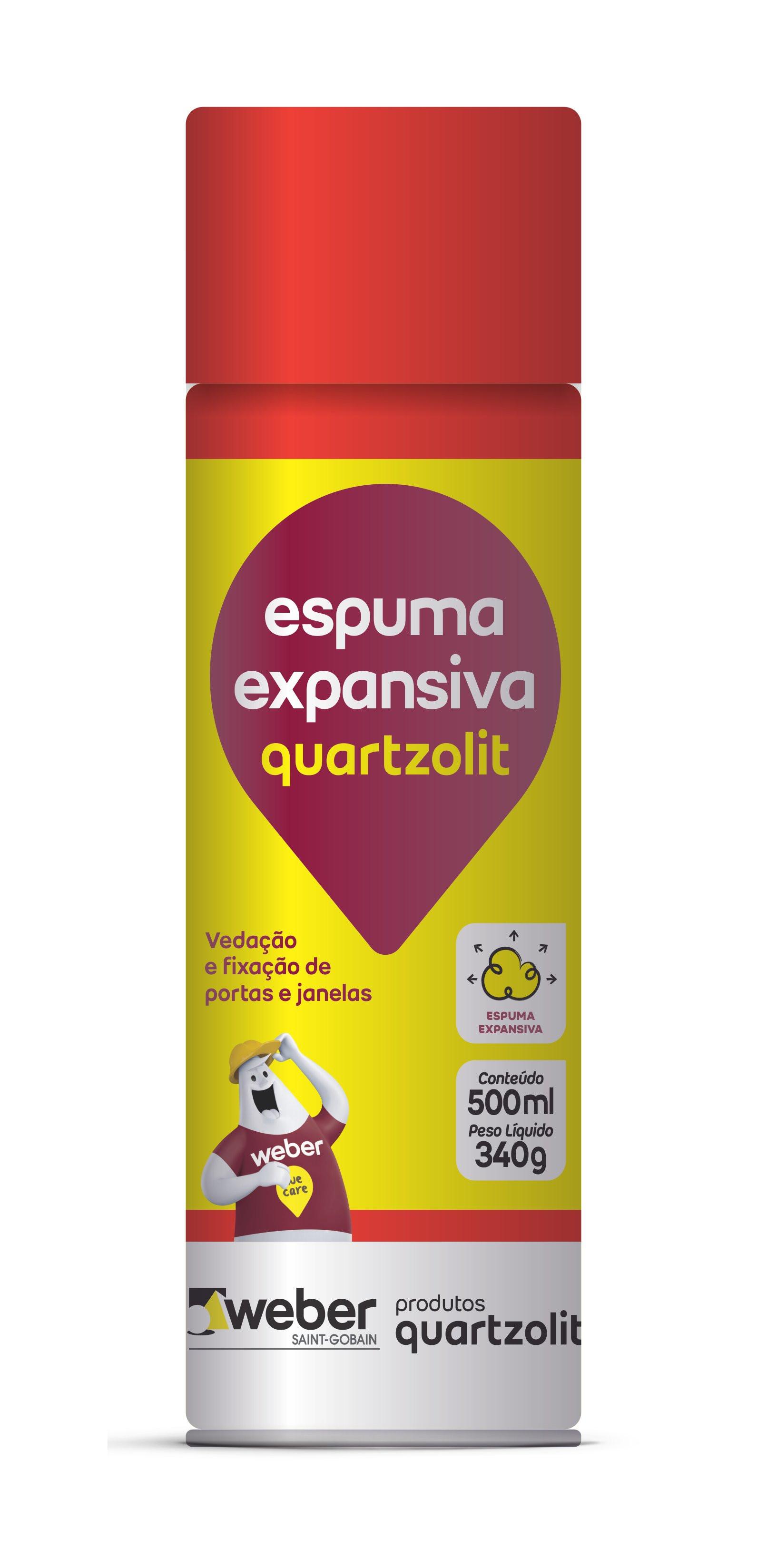 Espuma Expansiva 500ml Quartzolit