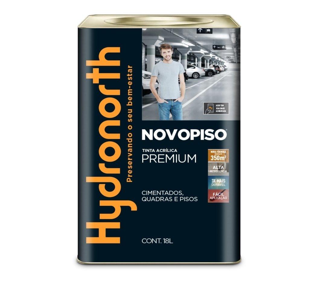 Tinta Piso Premium 18L Cinza Chumbo Novopiso Hydronorth