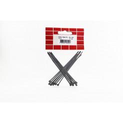 Cartela Abraçadeira Nylon 2,5 x 100 Preta 15un Cofix