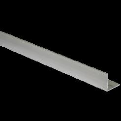 """Cantoneira de Alumínio L 5/8"""" Polido Alumínio Barreto"""