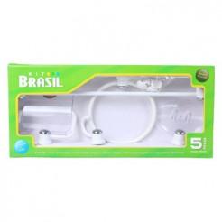 Kit Acessórios Banheiro 5 peças Branco Brasil