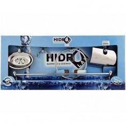 Kit Acessórios Banheiro 5 peças Inox Hidrolar