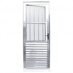 Porta de Alumínio Social 2,10x0,80m Esquerda Esquadriart