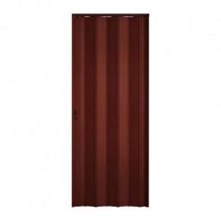 Porta Sanfonada PVC 2,10x0,72m Mogno Plasflex
