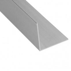 """Cantoneira de Alumínio L 1/2"""" Polido Alumínio Barreto"""
