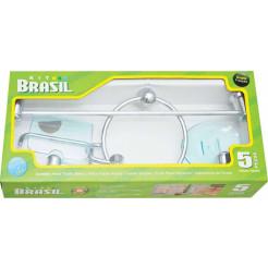 Kit Acessórios Banheiro 5 peças Cinza Brasil