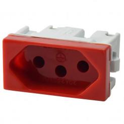 Módulo de Tomada 20A Vermelha Mectronic 39259