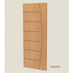 Folha de Porta de Madeira Frisada Estrela 2,10x0,82m Curupixá Ideal
